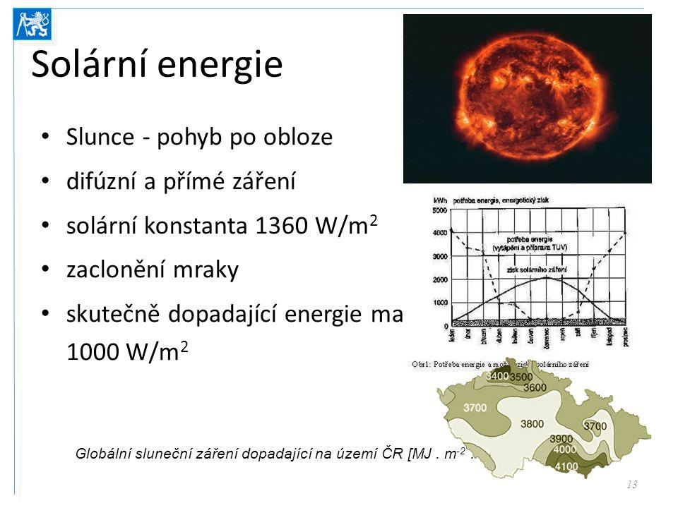 Globální sluneční záření dopadající na území ČR [MJ . m-2 .rok]